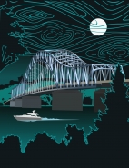 "Poster ""Blue bridge"""